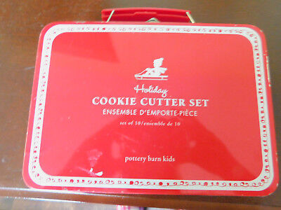 Pottery Barn Kids Holiday Cookie Cutter Set 9 Molds