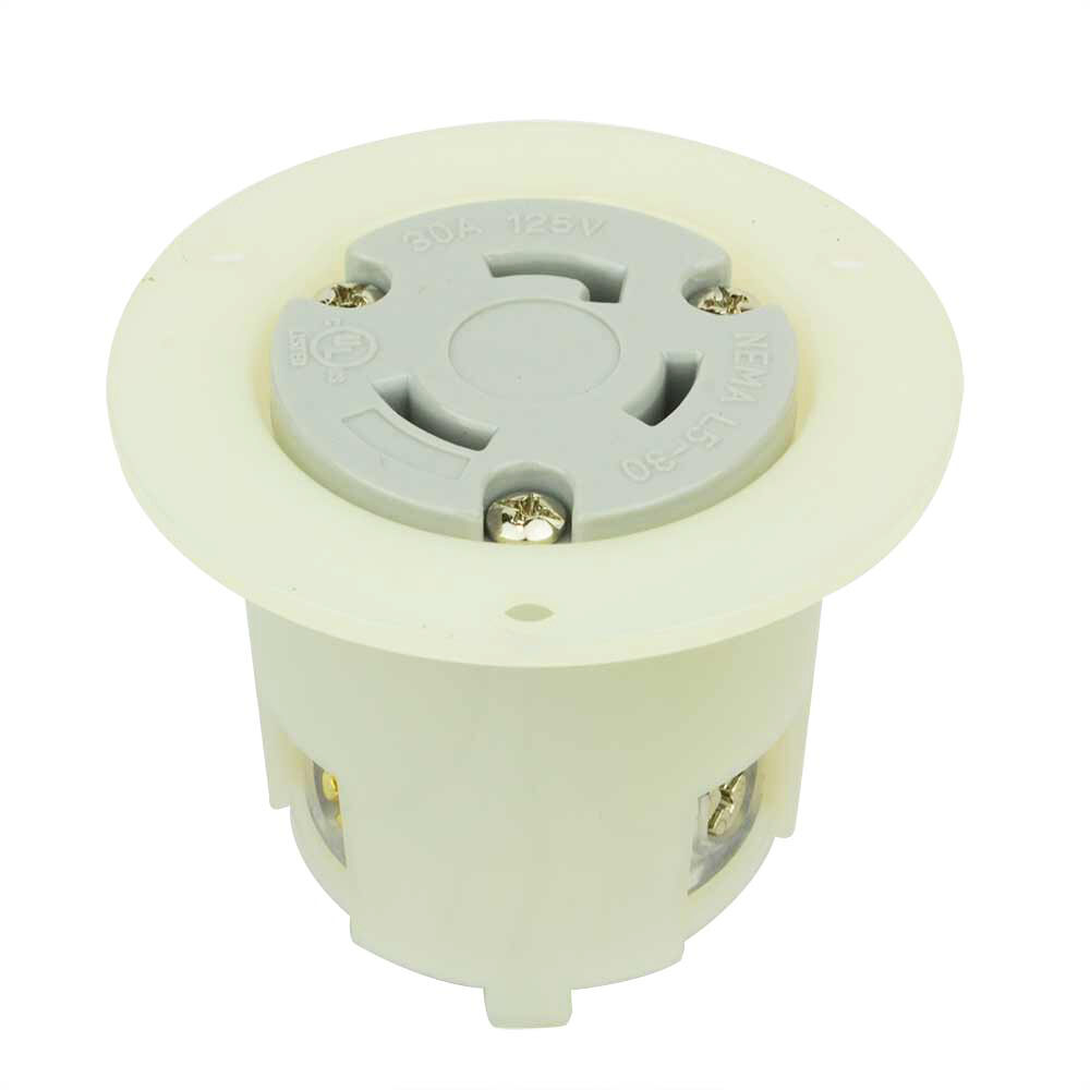 Twist Lock Flange Receptacle 3 Wire 30 Amps 125v NEMA L5-30r ...