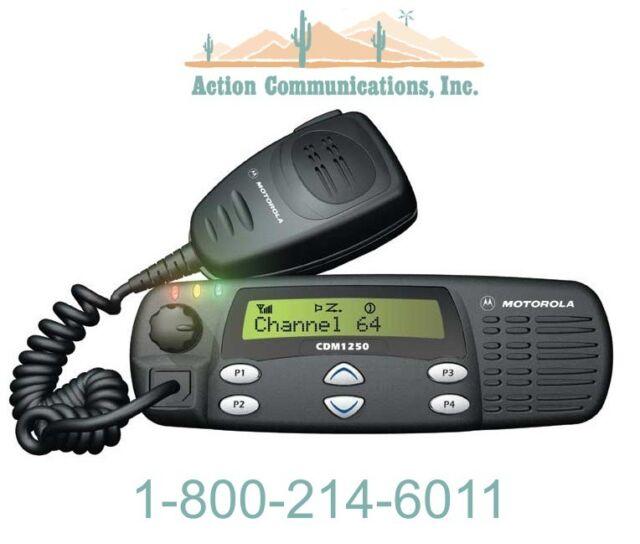 NEW MOTOROLA CDM1250,  UHF 403-470 MHz, 25 WATTS, 64 CHANNELS TWO WAY RADIO