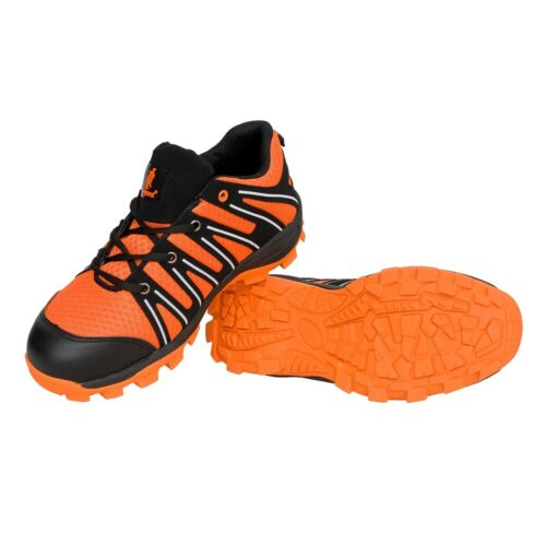 262 Sportliche Arbeitsschuhe Schutzkappe Sicherheitsschuhe Schwarz-Orange S1