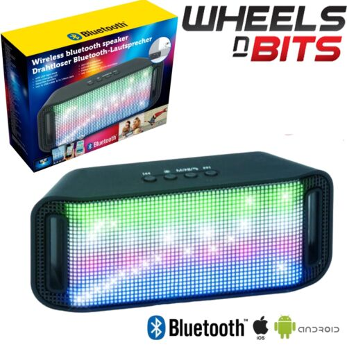 New Boombar Portable Bluetooth Wireless Speaker With Built In LED's & Aux input