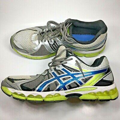 Asics Gel Nimbus 15 T3B0N Mens size 14 Running Shoes Green Blue Gray Trainers Sn | eBay