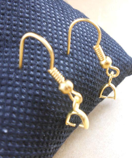 Wholesale NEW 50-200PCS 18K GOLD Silver Jewelry Findings  Bail Ear Hooks Earring