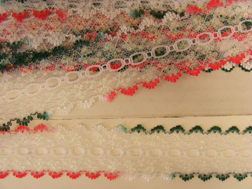 Knitting Eyelet Glitter White Varigated