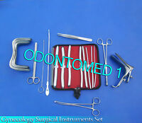 Gynecology Surgical Instrment Kit Sims+graves Speculum Large+hegar Dilators Kit