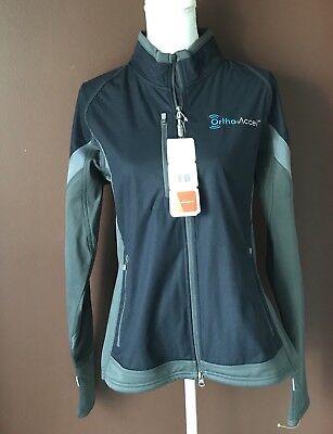 Nwt Women's Elevate Sport L Gray Jozani Hybrid Softshell Jacket Crease-Resistance Activewear Jackets