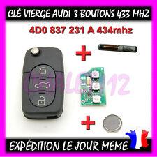 Clé vierge Audi A1 A3 A4 A5 A6 A8 TT Q7 4D0837231A 434mhz
