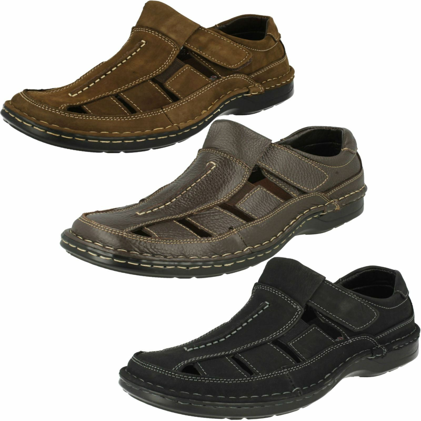 Mens Padders Breaker Closed Toe Leather Sandals