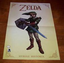 "NINTENDO THE LEGEND OF ZELDA LINK HYRULE HISTORIA PROMO POSTER NEW 11"" X 17"""
