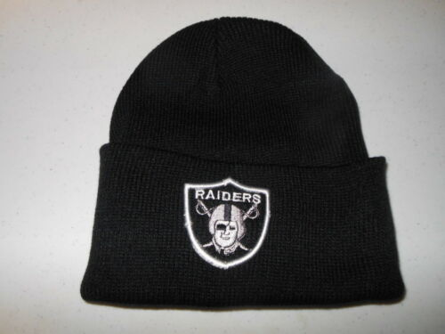 ... Oakland Raiders - Black Knit Winter Hat(Fold Up Style)-Free US Shipping 029f1752cee3