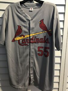 promo code 37df0 f1619 Details about ST LOUIS CARDINALS STEPHEN PISCOTTY SGA BASEBALL JERSEY ADULT  SIZE XL