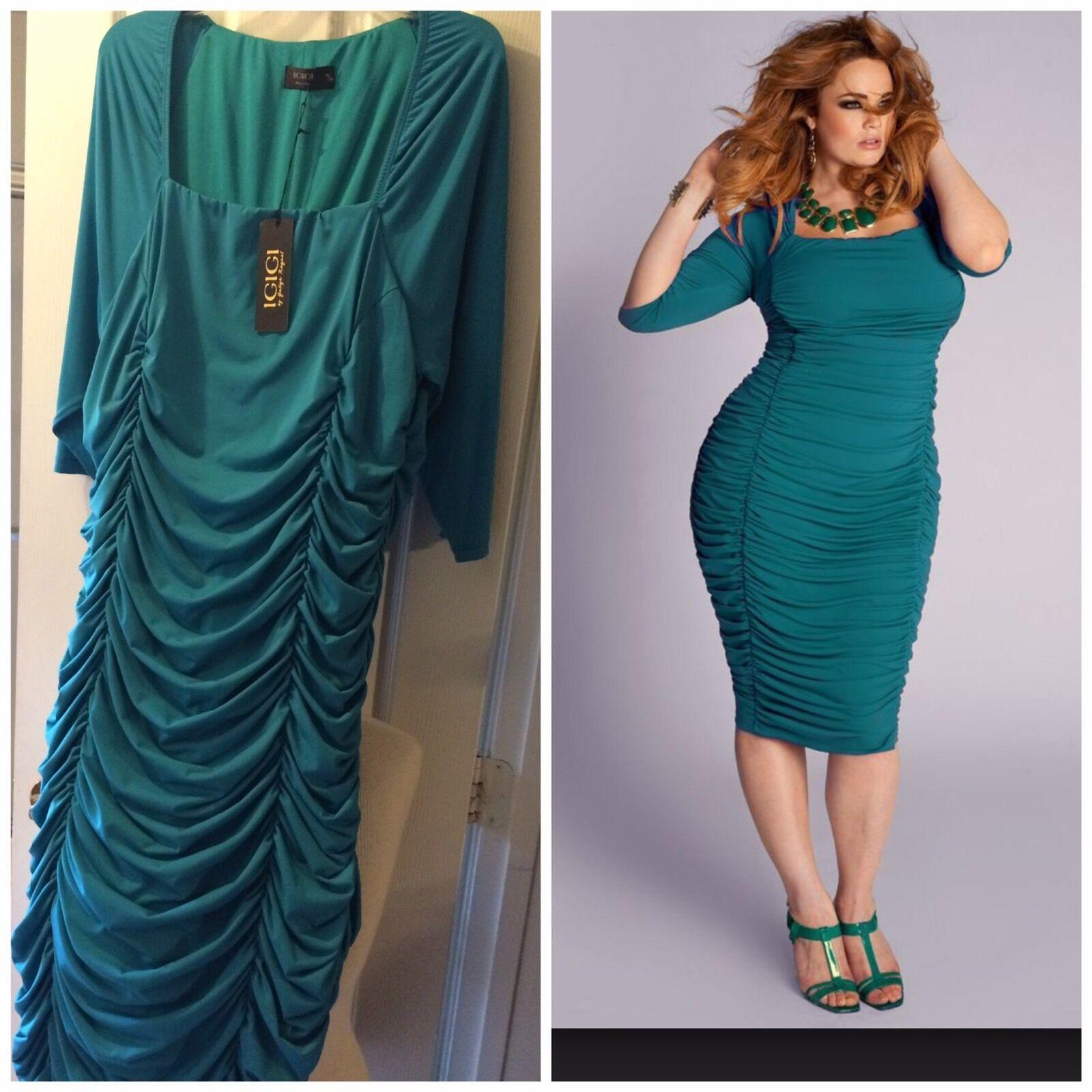 Igigi Renata 18 20 Jade Green Dress NEW