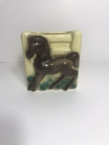 Vintage Royal Copley Horse Pony Planter Western Mid Century Pottery Decor