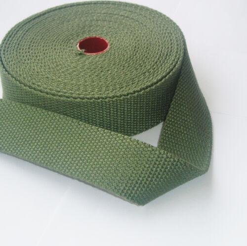 38MM COTTON WEBBING Canvas Thick Bottle Green Bag Making Shoulder Strap Craft