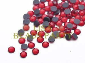 New-500pcs-SS20-5mm-12-Facets-DMC-Hotfix-Iron-On-Rhinestones-Crystal-Red