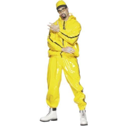 Men/'s Giallo Rapper Tuta Ali G in da house Costume Festa Addio al Celibato Film