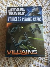 New, Sealed Star Wars Vehicles Playing Cards, Villains.