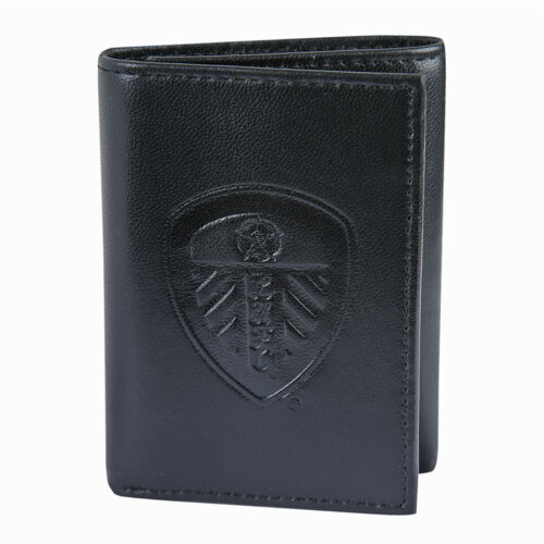 Leeds United AFC Official Gift Embossed Crest Leather Money Travel Wallet