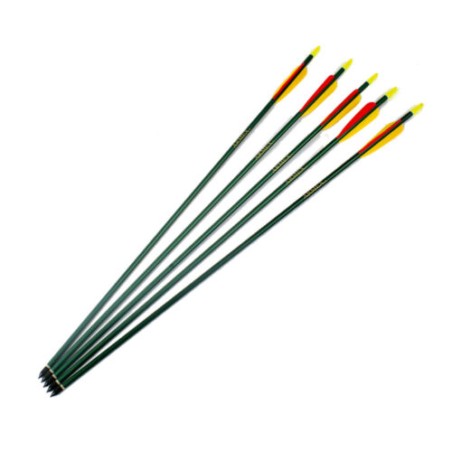 """JOB LOT Heavy duty aluminium arrows 30/"""" green 50 arrows 10//pks of 5 Armex"""