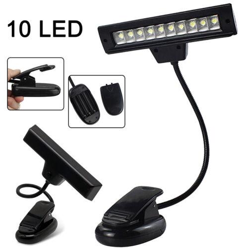 Leselampe Augepflege Buchlampe 10 LEDs Klemmleuchte  für Schlafzimmer Büro Lesen