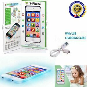 Toy-Phone-Baby-Childrens-Y-Phone-Educational-Learning-Kids-iPhone-TOY-4s-5-Gift