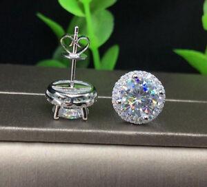2-10Ct-Round-Cut-Moissanite-Diamond-Halo-Stud-Earrings-14k-White-Gold-Finish