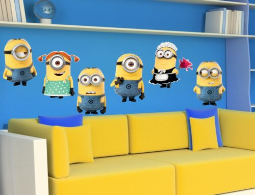MINIONS Despicable Me 6 Wall Stickers Decal Children Decor Mural 4 sizes M06