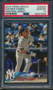 2018-Topps-Update-US200-Gleyber-Torres-Rookie-Card-RC-Yankees-PSA-10-Gem-Mint