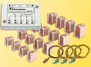 Sh-viessmann-5079-LED-hausinnenbeleuchtung-avec-tv-simulation-NEUF