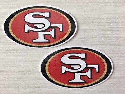 f1c0d797 2x San Francisco 49ers Car Window Bumper Laptop Wall Vinyl Stickers Decals  | eBay