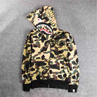 Hot BAPE A Bathing Ape Hoodie Sweats Camo Men's Shark Head Full Zip Coat Jacket