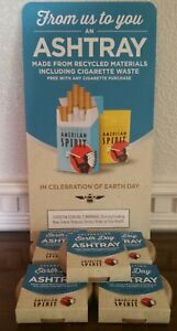 Recycled American Spirit Earth Day Portable Pocket Cigarettes Ashtray (10) Lot