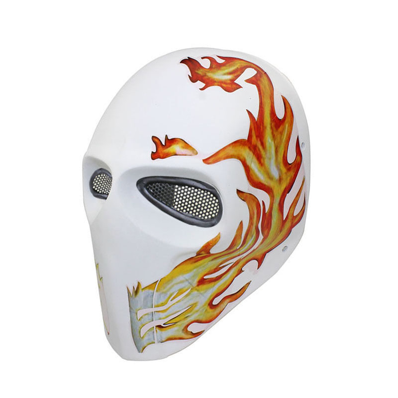 Nice Durable Fiber Resin Wire Mesh Eye Airsoft CS Paintball Full Face Mask