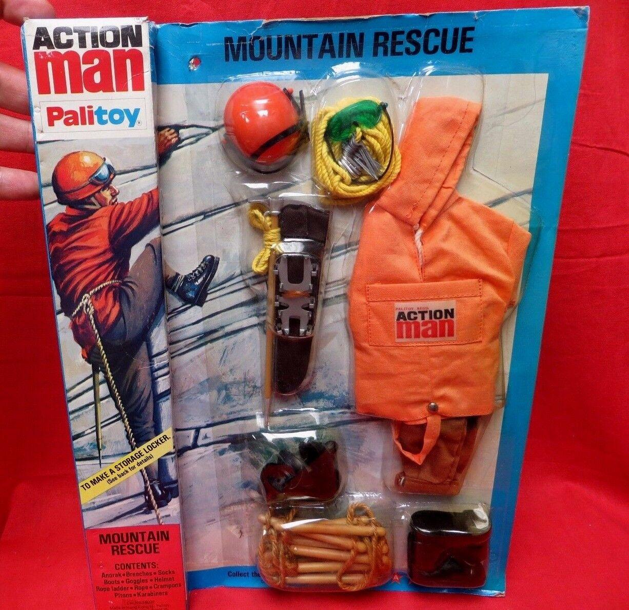 1964 vintage - gi joe joezeta  vam palitoy aktion mann  bergrettung mib