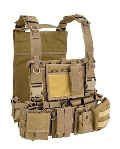 Gilet tattico softair/militare Soe Molle recon harness Defcon5 701 tac tan.