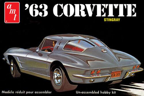 AMT 861 1963 CHEVROLET CORVETTE 1//25 SCALE MODEL KIT