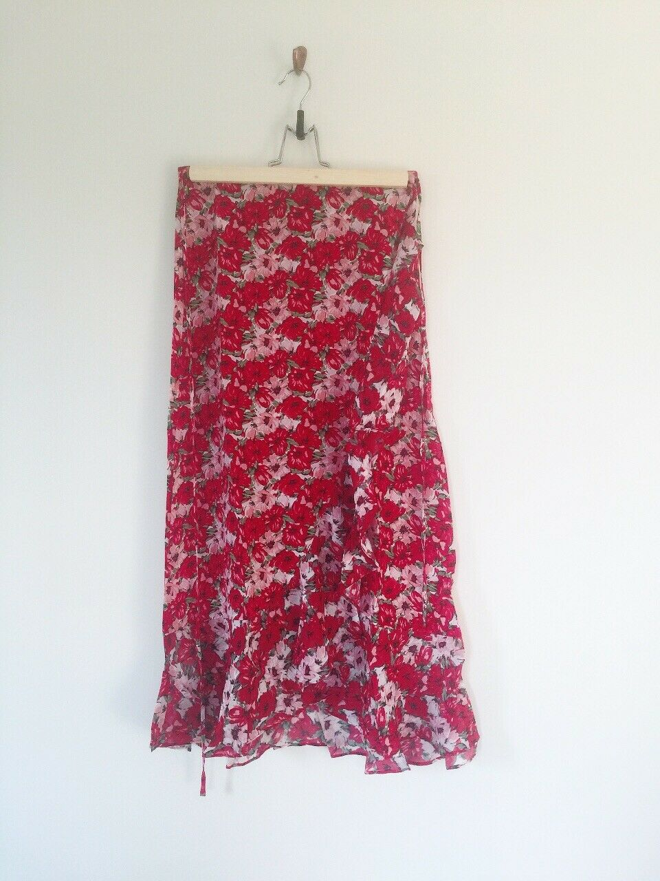 Rixo London Gracie Floral Wrap Skirt Größe XS