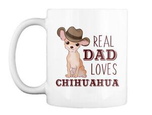 Real Dad Loves Chihuahua T S Gift Coffee Mug