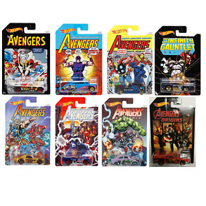 Hot-Wheels-FKD48-Marvel-Avengers-1-55-Scale-Diecast-Toy-Cars