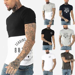 883-Police-Mens-Designer-Fashion-Cotton-Graphic-Printed-Crew-Neck-T-Shirt-Tee