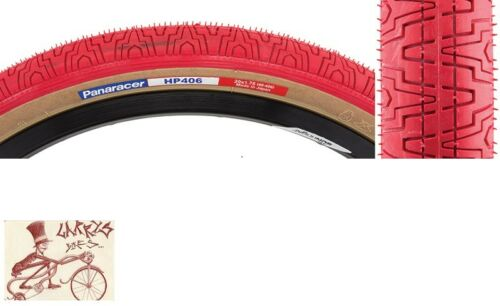 """PANARACER HP406  20/"""" x 1.75/"""" RED//TANWALL BICYCLE TIRE"""