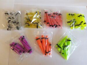 BUBBLEGUM Straight Acrylic Ear Taper Stretchers Expanders Kit Tapers UK