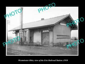 OLD-LARGE-HISTORIC-PHOTO-OF-WESTMINSTER-OHIO-ERIE-RAILROAD-STATION-c1910-1