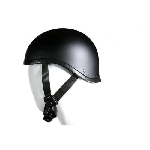 Flat Black Gladiator Novelty Motorcycle Helmet Harley Skull Cap S M L XL 2XL