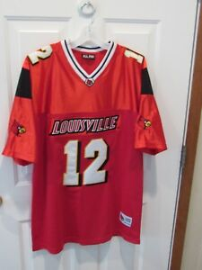 c537bfa378eb Image is loading Louisville-Cardinals-Football-Red-Home-Jersey-Card-Gear-