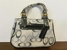 Inspired Monogram Signature Handbag Bag Purse Satin Fabric-NEW