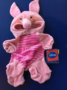 NEW-Build-A-Bear-DISNEY-PIGLET-COSTUME-Winnie-Pooh-PLUSH-PINK-Teddy-Outfit