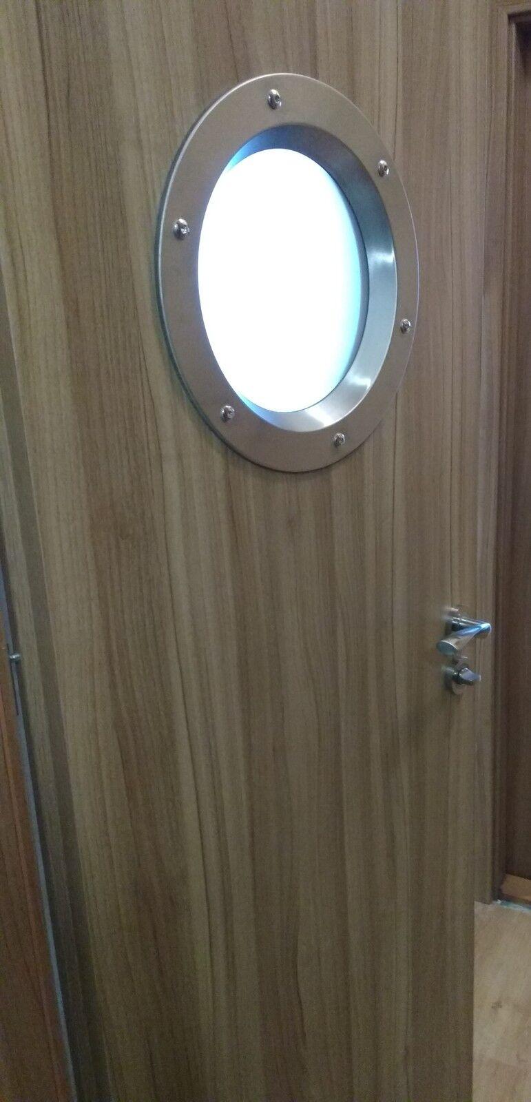 Hublot en acier inoxydable pour portes phi 350 mm. merveilleux. neuf.