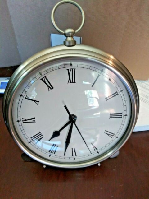 New Pottery Barn Pocket Watch Wall Clock With Easel Large
