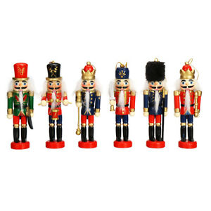 6x-12CM-Vintage-Wooden-Nutcracker-Puppet-Doll-Soldier-Christmas-Home-Decor-Gift